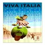 Viva Italy Poster Shower Curtain for $58.00