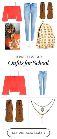 """""""School Day"""" by susanna-trad on Polyvore featuring Bebe, Yves Saint Laurent and Accessorize"""