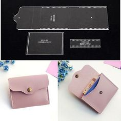 Purses 513621532500684125 - Leather Craft Clear Acrylic card holder coin purse Pattern Stencil Template DIY Source by oumatata Coin Purse Pattern, Wallet Pattern, Purse Patterns, Diy Coin Purse, Diy Animal Coin Purse, Diy Leather Coin Purse, Leather Wallet, Coin Purses, Leather Tooling