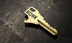 BOHK: Bottle Opening House Key | Cool Material.... Guaranteed way for me to never loose my keys.