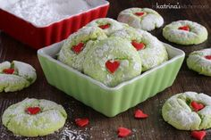 Cake mix Grinch Cookies Recipe | In Katrina's Kitchen #cakemixcookies #cookies #grinch