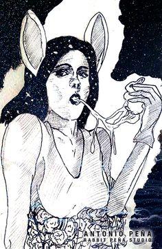 """""""CARTAS"""" Ilustración por: Antonio Peña / Rabbit Peña Studio Illustration  #illustration #design #art"""