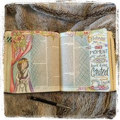 Bible art or journaling bible entry for the book of esther forn illustrated Scripture Art, Bible Art, Bible Verses, Scriptures, Faith Bible, My Bible, Bible Study Journal, Art Journaling, Scripture Journal