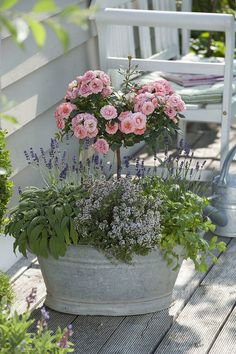 Window Boxes Summer, Container Plants, Container Gardening, Rose Stem, Flower Shower, Outside Living, Flower Arrangements, Floral Wreath, Home And Garden