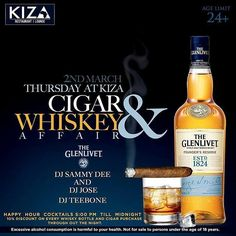 @kiza_nbo #at254 #nairobi  #entertainment #february #pisces #thursday #hangout #live #guys #bosslady #diva #divas #happy #food #kenya #tag2post #bestdj #bottles #shots #beer #upscale #maturecrowd  Kiza Restaurant and Lounge presents a night made for bosses and sophisticated individuals. The Cigar and Whiskey Affair kicks off at 5PM today with lots of offers like 10% off on all Whiskey bottles and Cigar purchases as well as Happy Hour till midnight. You don't wanna miss this! #TomorrowAfrica…