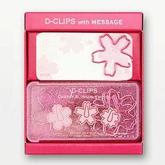 【midori/ミドリ】D-CLIPS with MESSAGE (ディークリップス&メモ)桜柄【楽天市場】