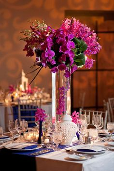 Fun floral centerpiece
