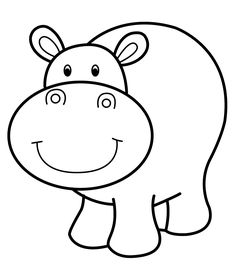 hippo coloring pages printable free - Printable Animal Colouring Pages