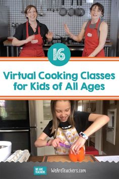 16 Virtual Cooking Classes for Kids of All Ages. Help students gain confidence in the kitchen and develop food literacy with these incredibly empowering Virtual Cooking Classes! #cookingclasses #activities #activitiesforkids #virtualclass #elementary #middleschool #highschool Culinary Classes, Baking Classes, Cooking Classes For Kids, Cooking With Kids, Cooking Websites, Kids Cookbook, Virtual Class, Best Cookbooks, Dinner Club