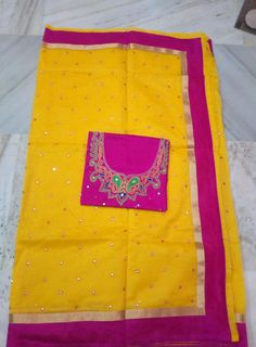 Exclusive super net sarees with mirror work paired with maggam work blouse. All sarees have bright color combination...