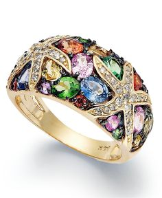 EFFY Collection 14k Gold Ring, Multistone Starfish Ring (3-1/2 ct. t.w.) - All Effy Jewelry - Jewelry & Watches - Macy's