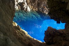 The beautiful underwater cave has been attracting explorers since its discovery in Despite divers going as deep as 120 meters, no one has reached the bottom yet, leaving lots to be discovered. Limestone Caves, Best Scuba Diving, Deep Diving, Underwater Caves, Diving Course, Places Of Interest, Oh The Places You'll Go, Travel Photos, Countryside