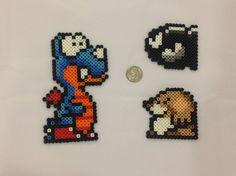 Super Mario World ennemis  ensemble de 3 Perler Bead Sprites