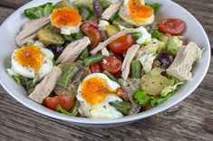 Nicoise, Cobb Salad, Salads, Health Fitness, Lunch, Vegetables, Cooking, Recipes, Food