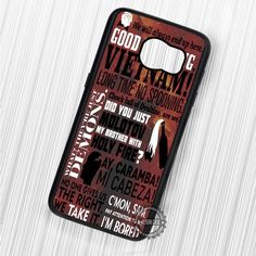 Lucifer Quote Collage Red Galaxy - Samsung Galaxy S7 S6 S5 Note 7 Cases & Covers