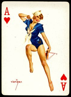 Playing Card Sailor Pinup Girl | Tattoo Ideas & Inspiration - Pinups | Alberto Vargas (1896 - 1982) Pin-Up Playing Cards (Baraja)