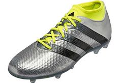 outlet store b8cdd 7adeb adidas ACE 16.2 Primemesh FG – Silver Metallic Core Black. Adidas Soccer  ShoesSoccer ...