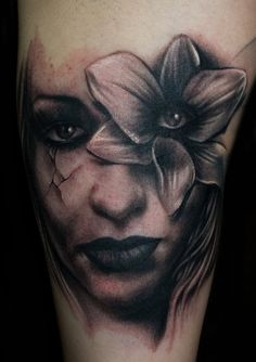 Freehand Woman Tattoo by *hatefulss