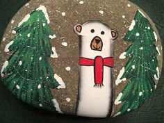 Diy Photo Ornaments, Christmas Ornaments, Rock Painting, Painted Rocks, January, Crafting, Stones, Craft Ideas, Holiday Decor