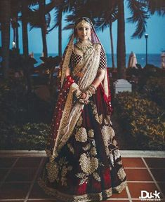 Find top trending and unique Sabyasachi Lehenga Designs for your dream bridal look. Best bridal lehenga designs by Sabyasachi for 2020 weddings. Indian Bridal Outfits, Indian Bridal Lehenga, Red Lehenga, Indian Bridal Fashion, Indian Bridal Wear, Bridal Dresses, Indian Wear, Lehenga Style, Pakistani Outfits