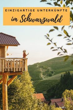 "ᵂᴱᴿᴮᵁᴺᴳ ᴰᴬ ᴼᴿᵀˁᴺᴱᴺᴺᵁᴺᴳ Enjoying the view over the the ""Tuscany of germany"" from your treehouse in the middle of the vineyards with a glas rosé and the best company 🥂🌿 Weekend Trips, Vacation Trips, Vacations, Tree House Accommodation, Holidays Germany, Houses In Germany, Black Forest Germany, Cool Tree Houses, Life Is A Journey"