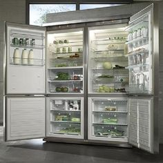 the 'giving' refrigerator. this is awesome. Could feed so many hungry people