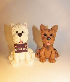 Custom Cake Topper, Dog, Pet, Westie,Yorkie, Wedding Cake Topper, Animal Topper, Personalized