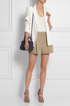 Loewe | Amazona small denim-effect suede tote | NET-A-PORTER.COM