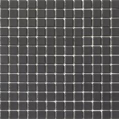Mosaïque Émaux décor Lisos Gris foncé 33 x 33 cm - CASTORAMA