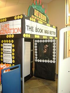 """The Book Was Better"" library book display ~~~~~~~~~~~~~~~~~~~~~~~~~~~~~~ many times readers find they like the book better than the movie"