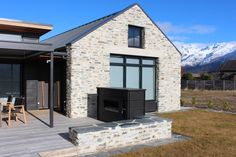 Jacks Point - Chung house by Rilean Construction House Entrance, Black House, Home Projects, Construction, Mansions, House Styles, Home Decor, Building, Decoration Home