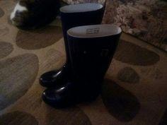 High calf rubber boots