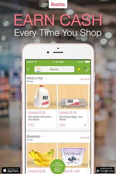 "Install the free Ibotta app and get an extra $10 when you register with referral code, ""Pinterest"""