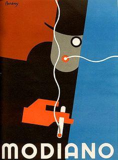 Robert Berény. Cartel para Modiano. 1927