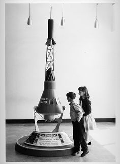 Visitors looking at Project Mercury Capsule, National Air Museum | Flickr - Photo Sharing!