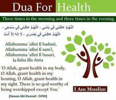 Dua for health . – Health is important Dua For Health, Kids Health, Children Health, Islamic Teachings, Islamic Dua, Most Powerful Dua, Learning German, Learning Arabic, Beautiful Dua
