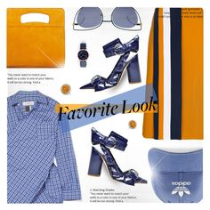 """""""Checked And Striped"""" by jiabao-krohn ❤ liked on Polyvore featuring Victoria, Victoria Beckham, Facetasm, Creatures of Comfort, Fendi, adidas, Marc Jacobs, Allurez, stripes, orangeoutfit and popsoforange"""