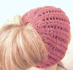 Crochet Messy Bun Hat... free pattern