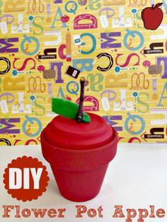 DIY Flower Pot Apple ~ Perfect Back to School Craft