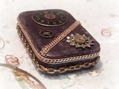 Steam Punk Deep Purple Tin Box by AlteredStateofTin on Etsy, $18.95