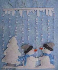 christmas crafts snow display