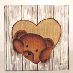 Table teddy curious natural wall decoration soft and tender My Teddy Bear, Cute Teddy Bears, Art D'ours, Teddy Beer, Stuffed Animals, Bear Paintings, Teddy Bear Pictures, Mushroom Art, Decoupage Vintage