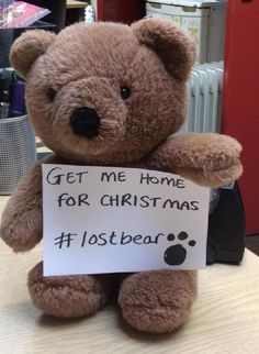 Found on 16 Nov. 2015 @ Theatre Royal & Royal Concert Hall Nottingham. HELP! Somebody has left their beloved bear at our venue. Can you help get him home for Christmas? Visit: https://whiteboomerang.com/lostteddy/msg/39s3qu (Posted by Margaret on 26 Nov. 2015)