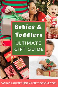 Ultimate Gift Guide for Babies and Toddlers: Are you looking for the best gift for your baby or toddler? This gift guide includes non-toy gift ideas as well as the best learning toys. Find all of your toddler and baby gifts in one place! Toddler Learning, Learning Toys, Non Toy Gifts, Baby Gifts, Christmas Activities For Toddlers, Best Baby Toys, Baby Play, Infant Play, Infant Care