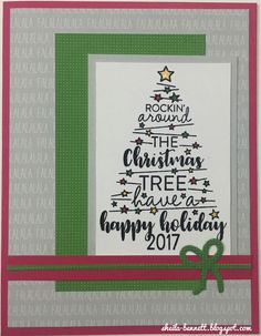 Sheila's Stamping Stuff: Christmas Tunes (October SOTM Blog Hop)   #ctmh #cardmaking #christmascard #holidaycard #christmastree #ctmhSOTM