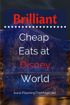 Eating at Disney on a Budget | Feeding yourself and theme park tickets are the two most expensive parts of your Disney vacation. Find out how to eat at Disney on a budget.  Find more information at www.planningthemagic.net