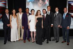 The cast of #ManofSteel at the NYC premiere!