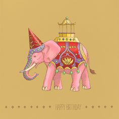 """Majestic Elephant"" Card, Paperless Post... such nice invites"
