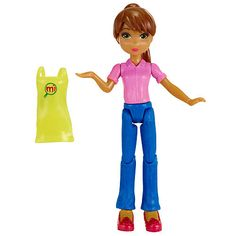 Play shopper or shopkeeper with perfect sized figures made especially for the miWorld playset. These fashion-forward girl figures work, shop, and love to hang out in your customized miWorld! Blond or brunette styles available and include one removable apron. Continue to grow your mall with Starter Sets, Deluxe Sets and Collector Packs. Also, look for the free miWorld app in the iTunes store to play mini games, design your own virtual avatar and bring her to life in your actual miWorld…