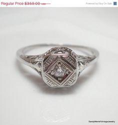 HOLIDAY SALE European Cut Diamond in Art by SandyMerrellDesigns, $287.20